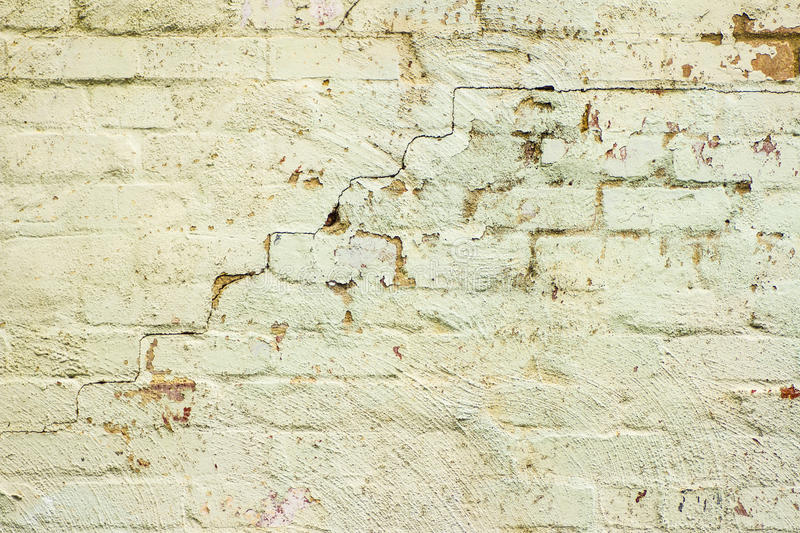 Old mint green brick wall. Old, cracked brick wall in Melbourne royalty free stock photos