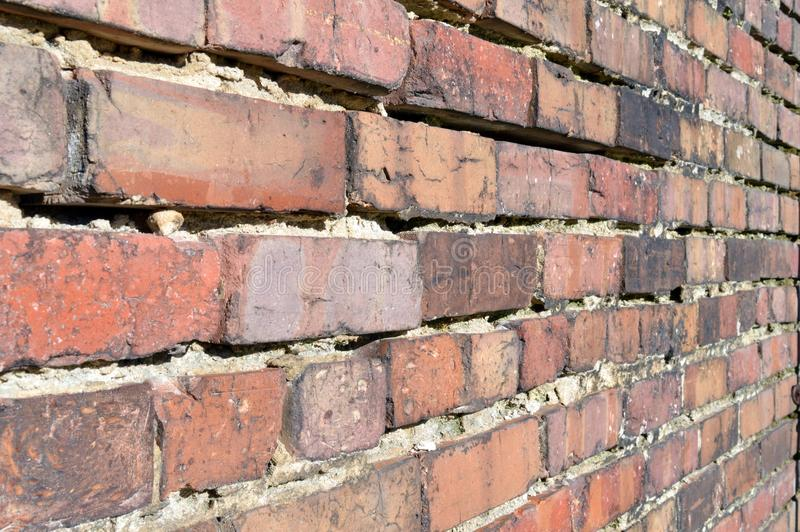 Old Brick Wall. In historic downtown Rocky Mount, North Carolina stock photography