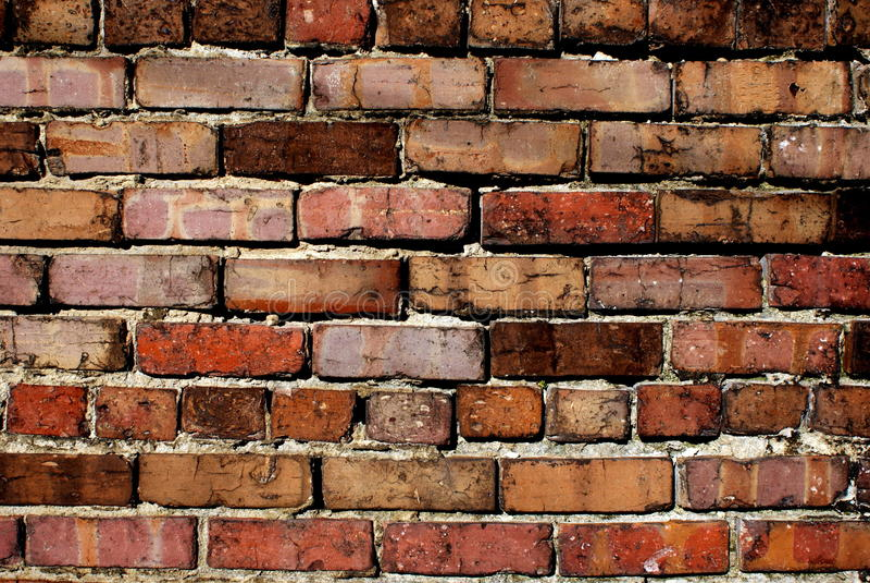 Old brick wall. Brick wall in historic downtown Rocky Mount North Carolina stock photography