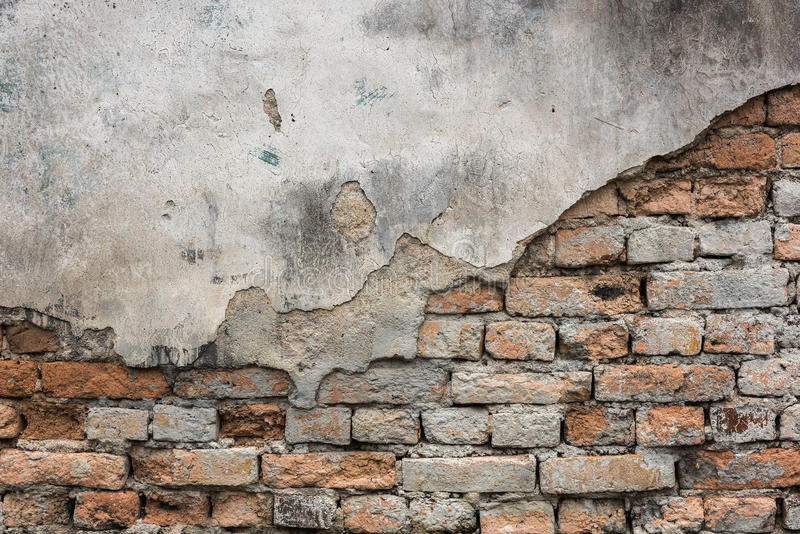 Old brick wall. Of the old house royalty free stock photos