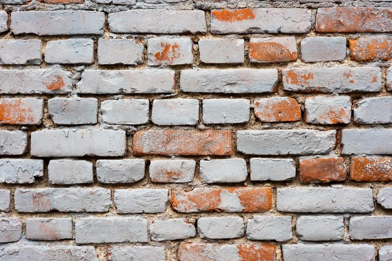 Old brick wall with red spots royalty free stock images