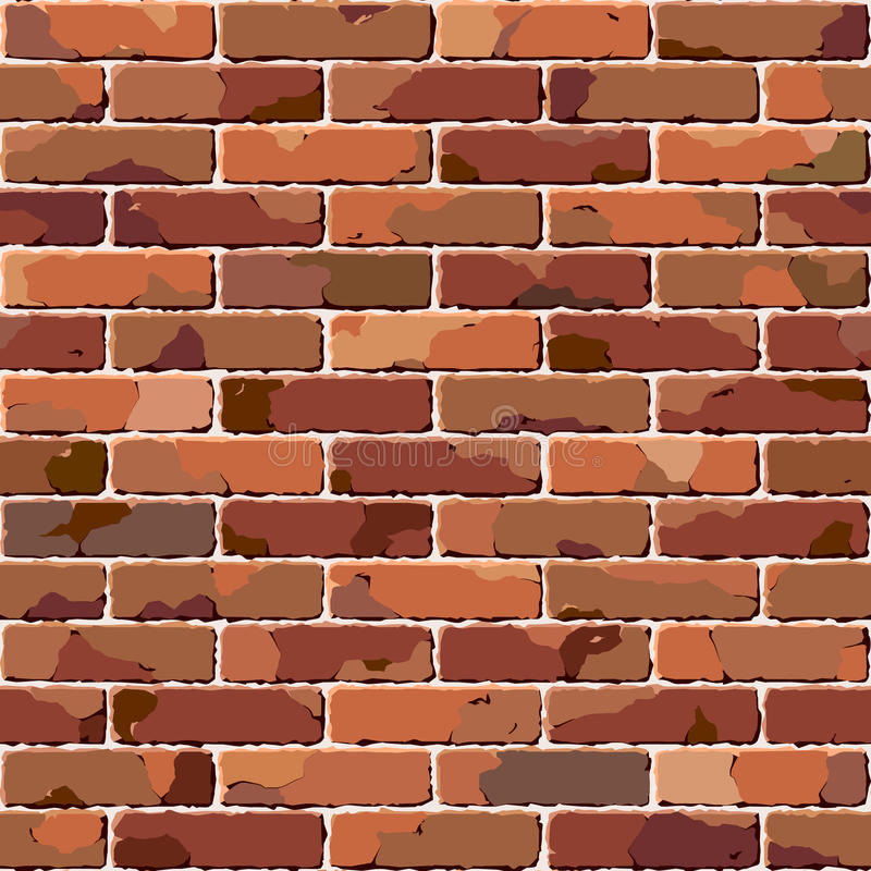Download Old Brick Wall. Seamless Illustration. Stock Vector - Image: 11416805