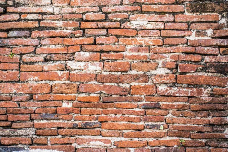 Old Brick Wall Texture background image. Grunge Red Stonewall Background royalty free stock photo