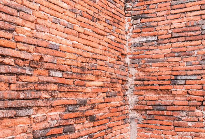 Old Brick Wall Texture background image. Grunge Red Stonewall Background stock image