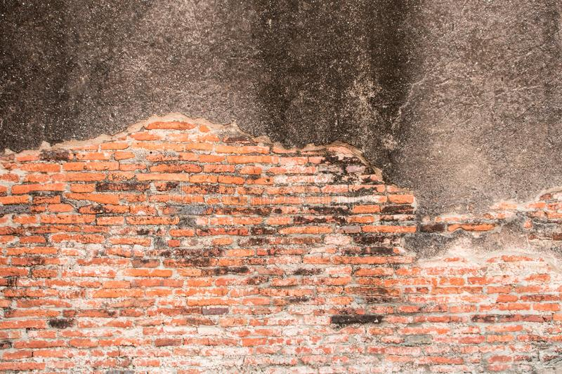 Old Brick and cement dry Wall Texture background image. Grunge Red Stonewall Background. Old Brick Wall Texture background image. Grunge Red Stonewall Background royalty free stock photo
