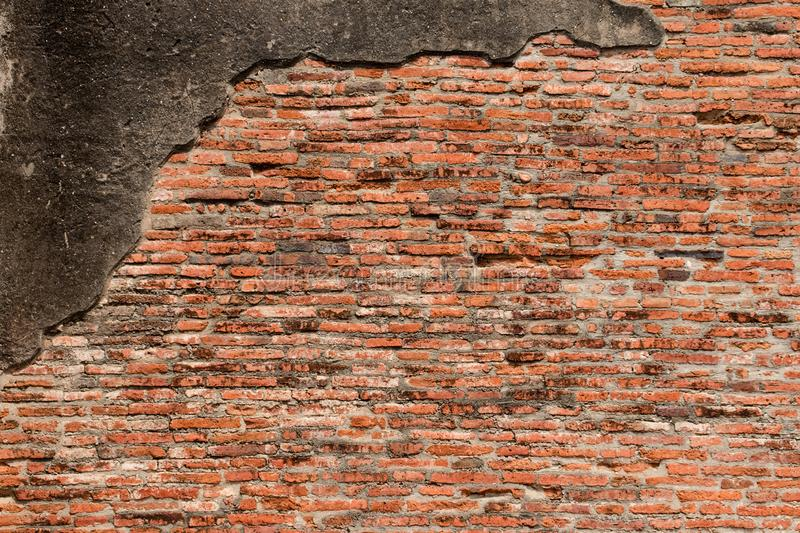 Old Brick Wall Texture background image. Grunge Red Stonewall Background stock photo