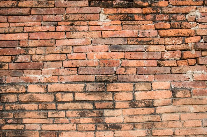 Old Brick Wall Texture background image. Grunge Red Stonewall Background stock photography