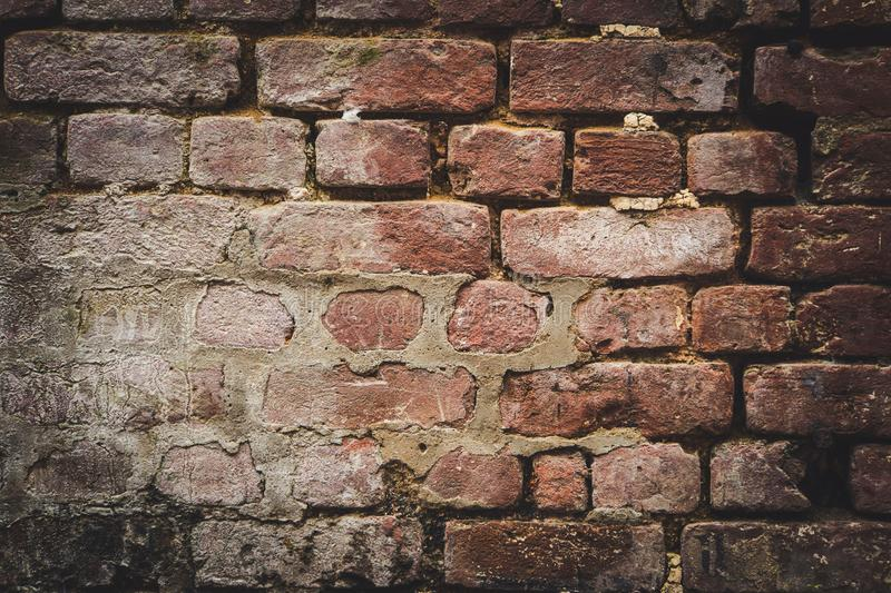 old brick wall for texture or background, stock photography
