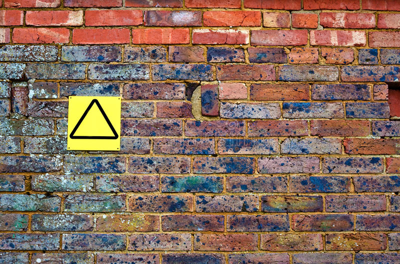 Download Old Brick Wall With Yellow Sign Stock Photo - Image: 28732768