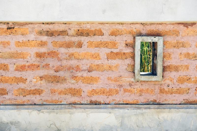 Old brick walls, pale colors, textured background, wallpaper stock image