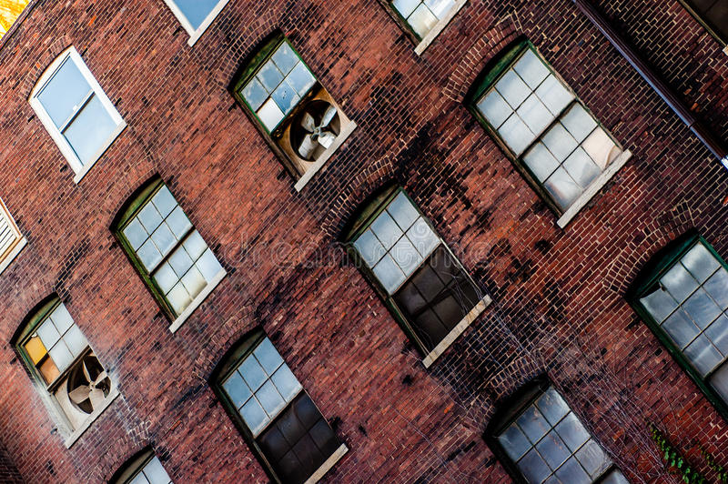 Old brick warehouse building architecture royalty free stock photography
