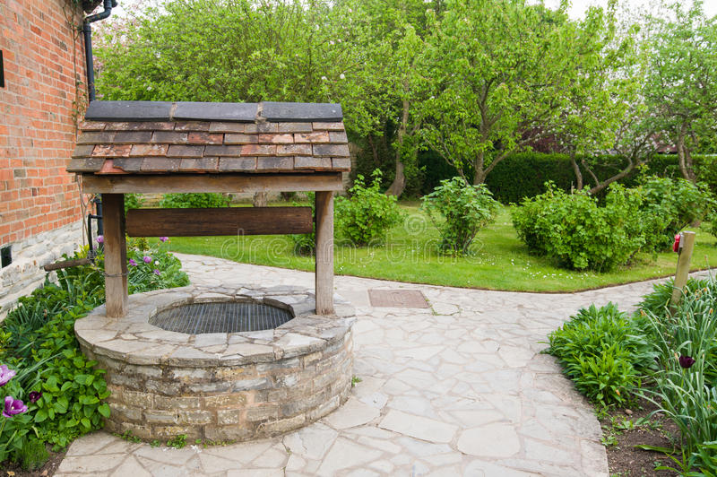Download Old bricked well stock photo. Image of deep, brick, lawn - 31657362