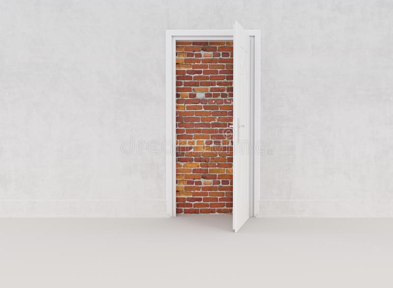 Old Bricks and White Door stock photography
