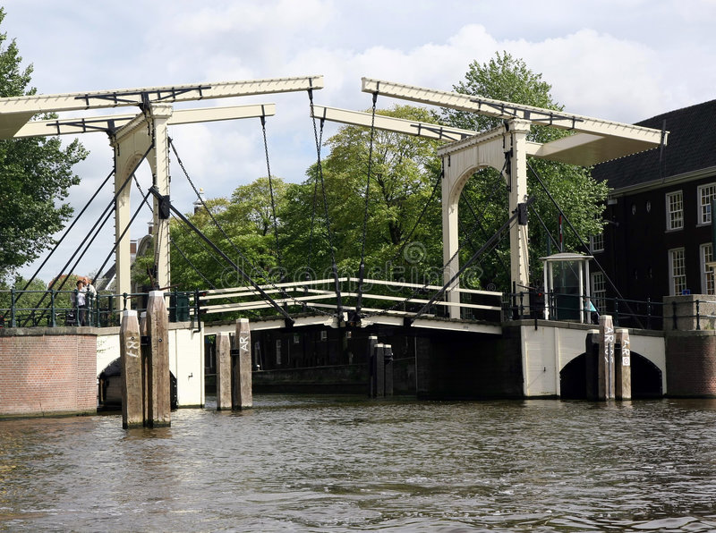 Old Bridge in Amsterdam royalty free stock photo