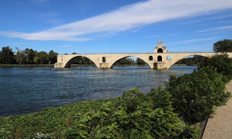 The old bridge of Avignon, France stock image