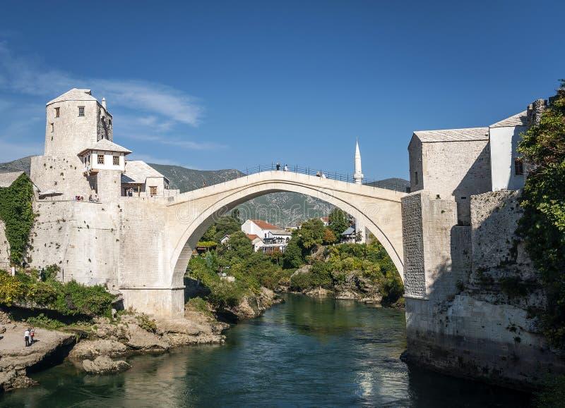 Old bridge famous landmark in mostar town bosnia and herzegovina royalty free stock photography