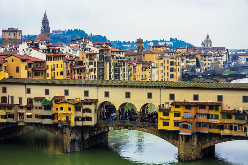 Old Bridge in Florence, Italy stock images