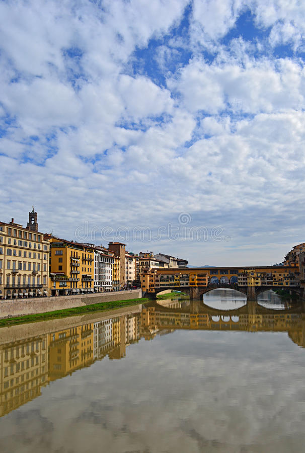 Old bridge in Florence, Italy royalty free stock image