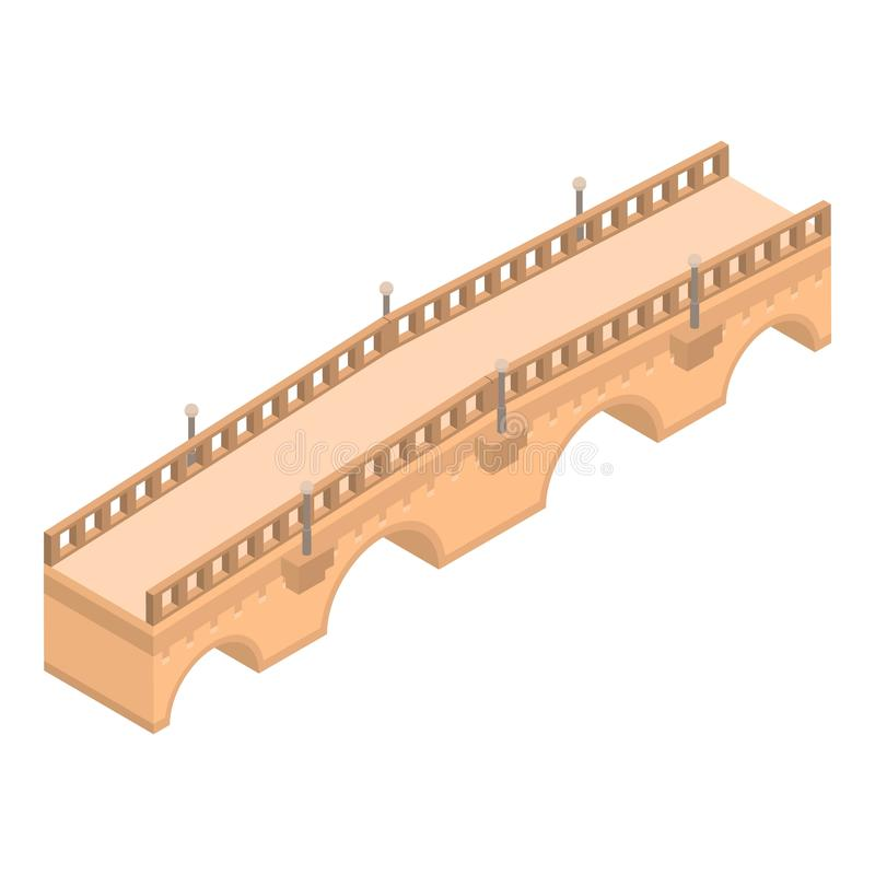 Free Old Bridge Icon, Isometric Style Stock Photos - 142251403