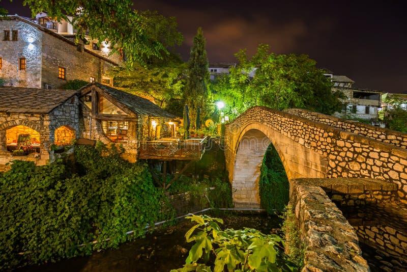Old Bridge in Mostar - Bosnia and Herzegovina. Architecture travel background stock image