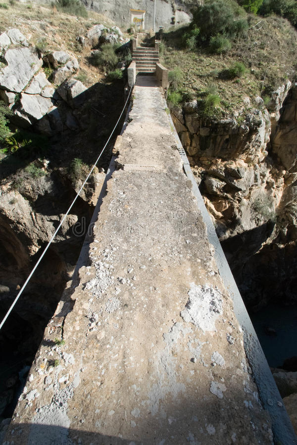 Download Old Bridge Over Canyon Stock Photo - Image: 83720285