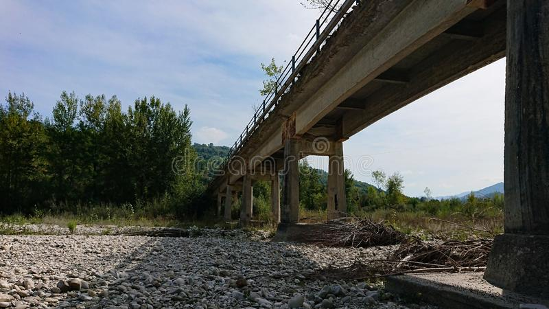 Old Bridge. An old bridge over a dried up river royalty free stock photos