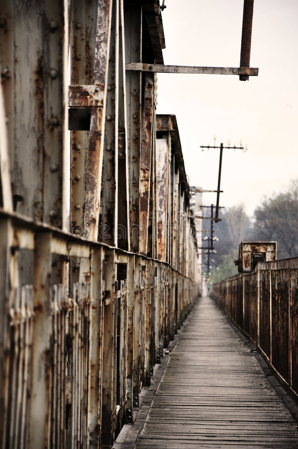 Download Old bridge on the river stock image. Image of paint, single - 9077749