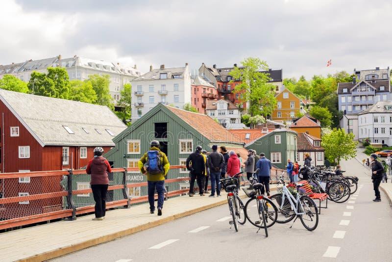 The Old Bridge, Trondheim royalty free stock image