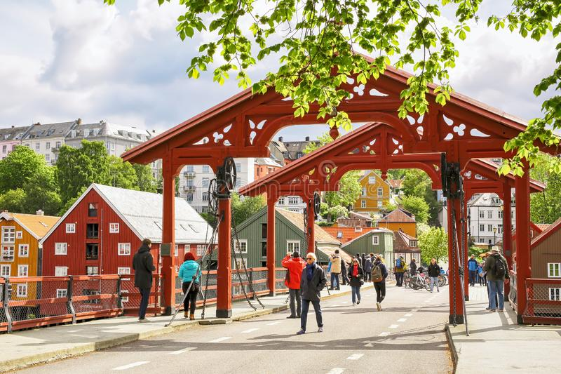 The Old Bridge, Trondheim stock photo