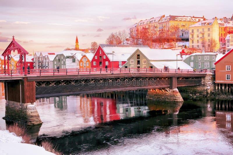 The Old Bridge, Trondheim royalty free stock photo