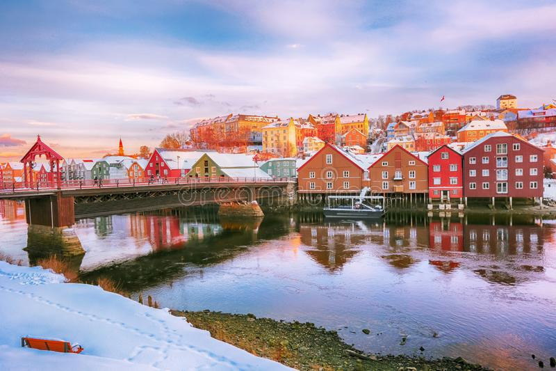 The Old Bridge, Trondheim royalty free stock photography
