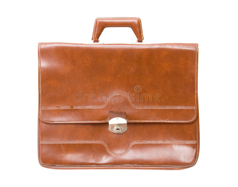 Download Old briefcase stock image. Image of single, isolated, personal - 4417587