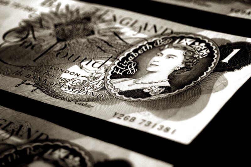 Old british banknotes - sepia