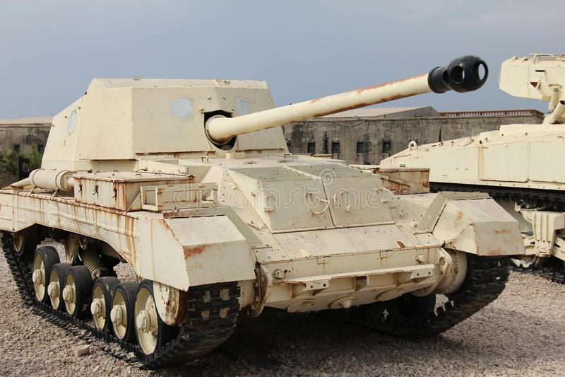 Download Old British tank destroyer stock photo. Image of track - 26970700