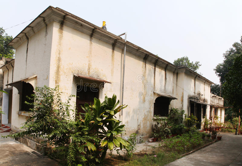 Old British time houses for faculty residence in the campus IIT. ROORKEE, INDIA - JULY 03: Old British time houses for faculty residence in the campus IIT royalty free stock image
