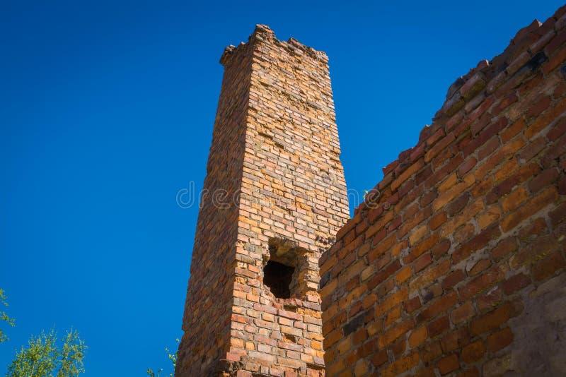 Broken brick building stock photography