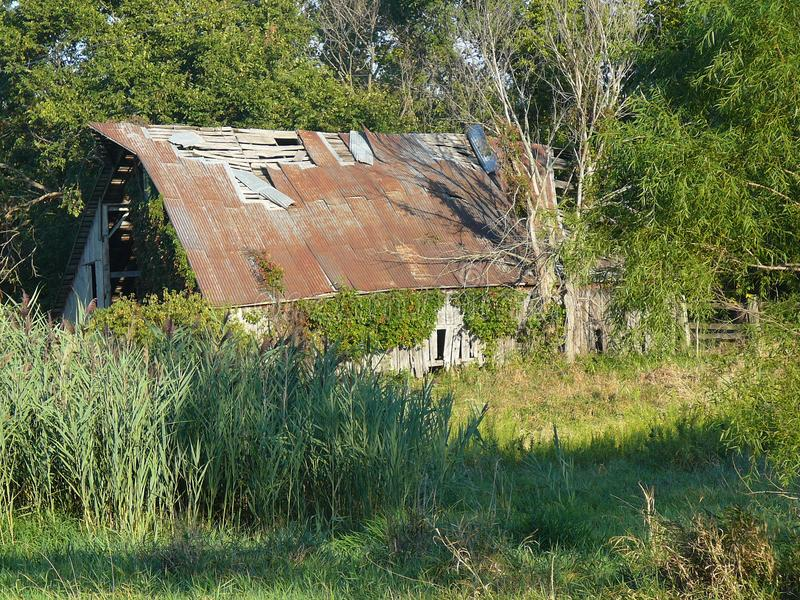Old Broken Down Barn royalty free stock photo