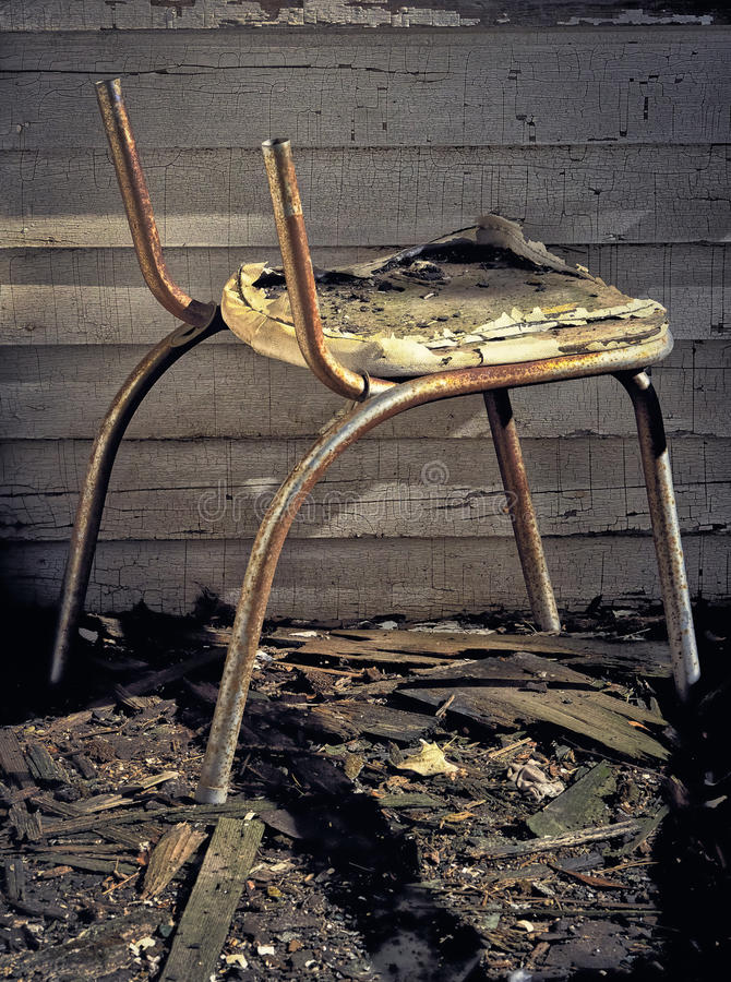 Old Broken Down Chair Stock Photo Image 58227552