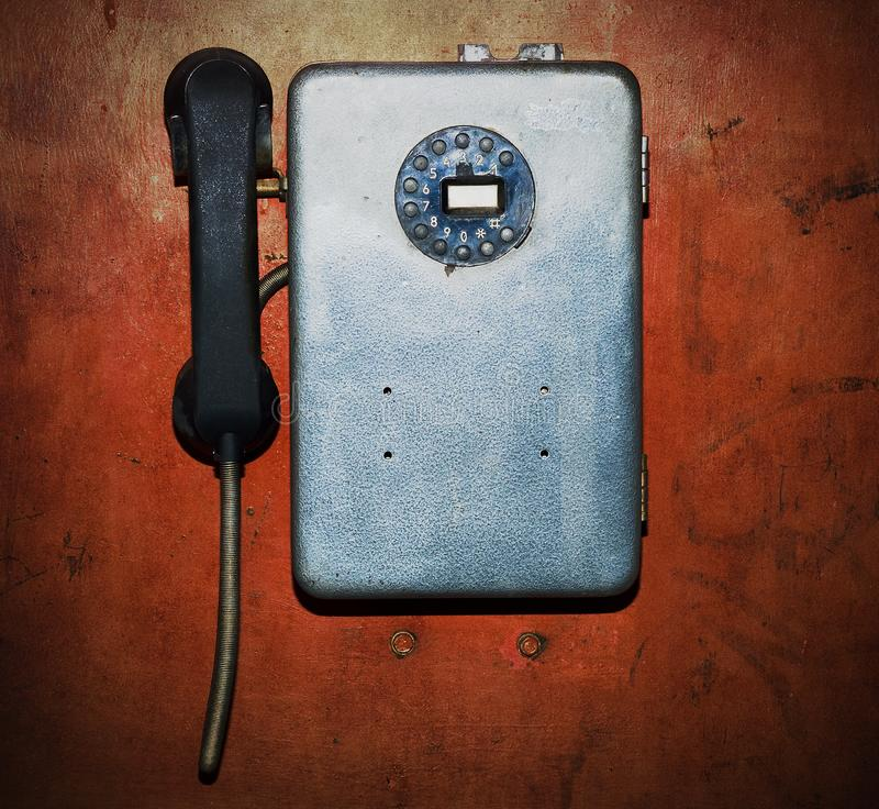 Old broken phone royalty free stock images