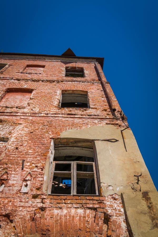 Broken old brick building royalty free stock image