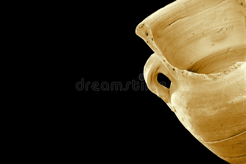 Old broken vase royalty free stock image