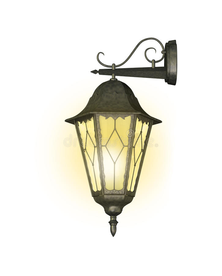 Download Old bronze lamp stock illustration. Image of yellow, isolate - 13091157
