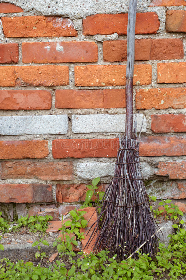 Download Old broom stock image. Image of broom, brick, wall, broomstick - 26052781