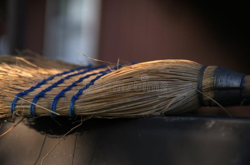 Old broom background. Broom bristles detail background illustration royalty free stock photo