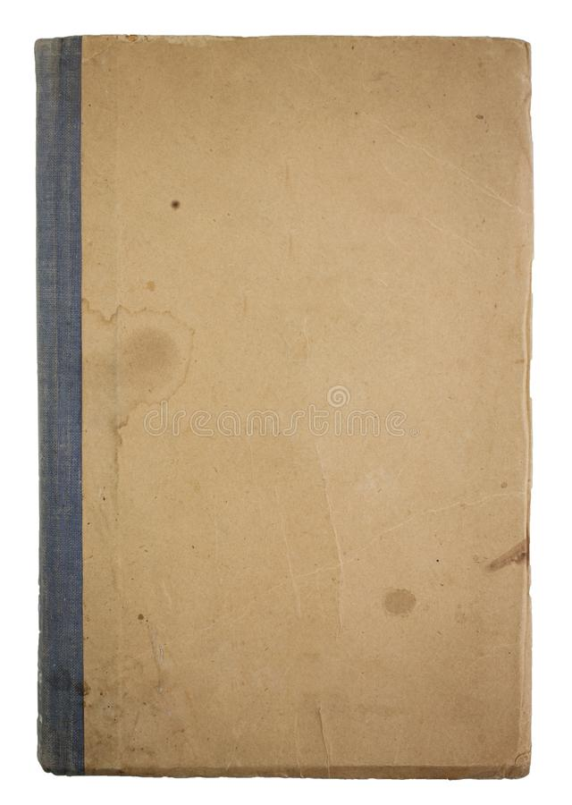 Old book cover isolated on the white background stock photography