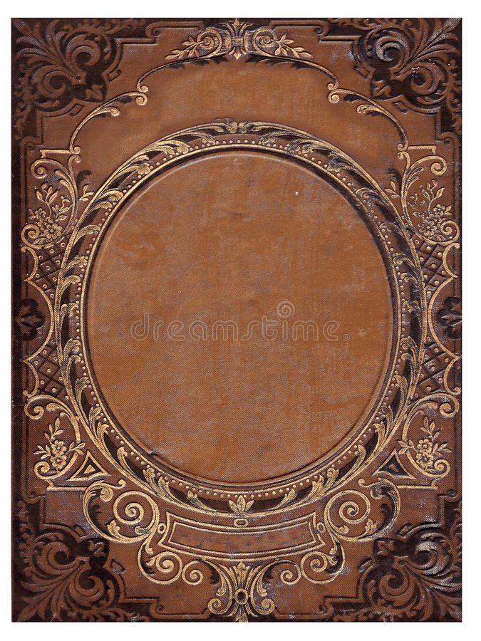 Old Brown Book Cover : Old brown book cover stock image of classic