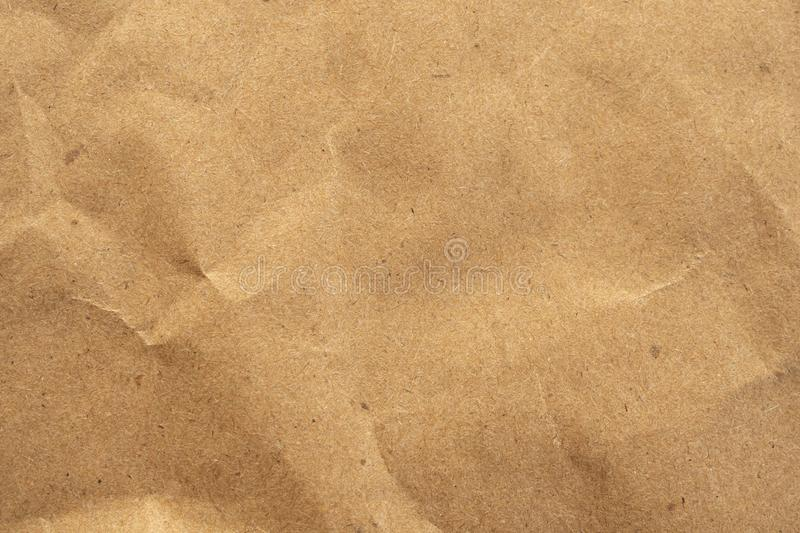 Old brown eco recycled kraft paper texture cardboard background royalty free stock image