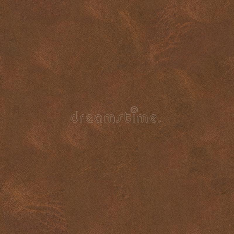 Old brown leather background. Seamless square texture, tile ready. High resolution photo stock image