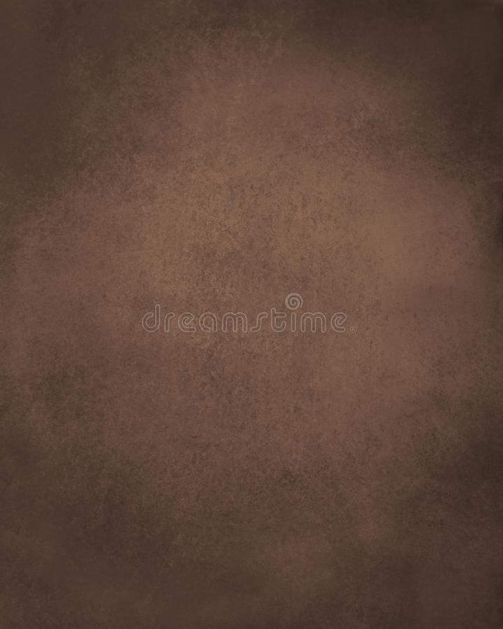 Old brown paper background, dark coffee color with black grunge distressed vintage textured borders royalty free illustration