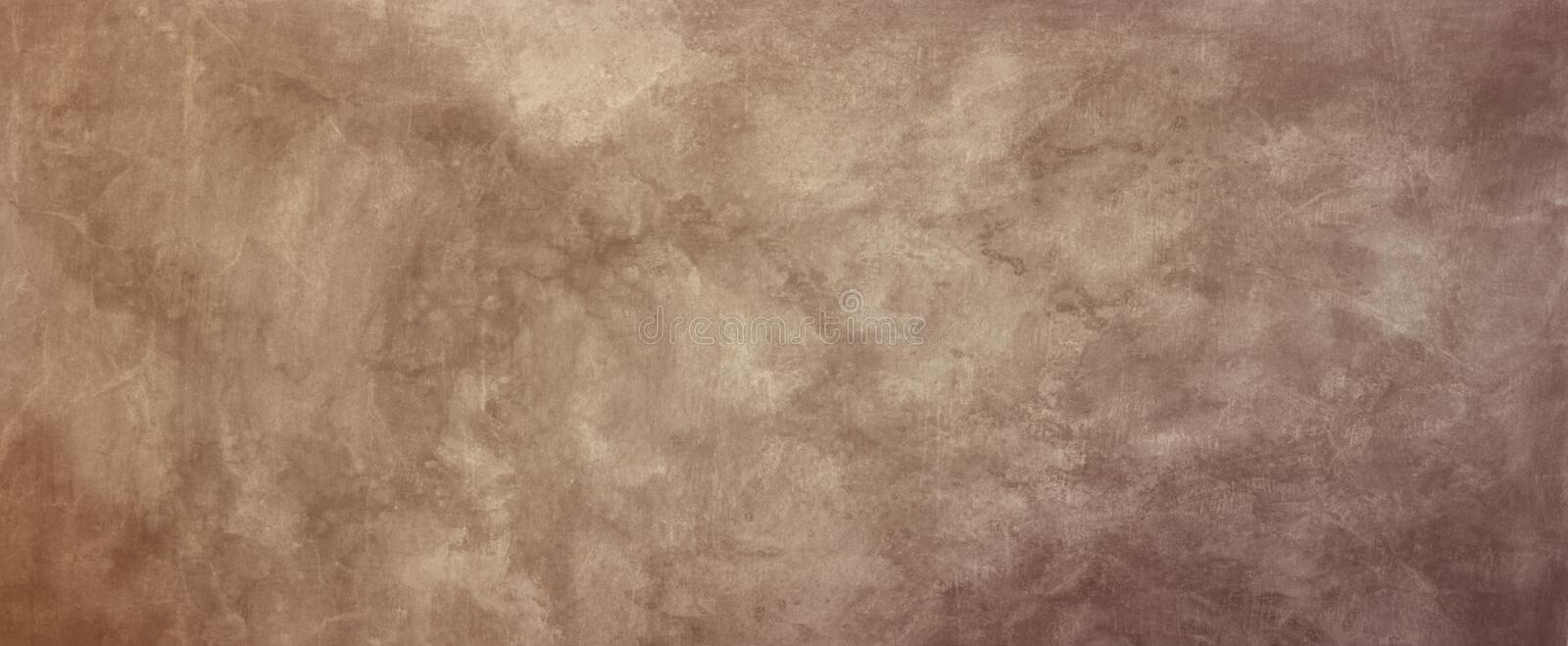 Old brown paper parchment background illustration with sepia and white worn grunge texture design stock illustration